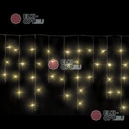 Светодиодная бахрома 3х0,5м  цвет теплый белый, провод черный, IP54, постоянное свечение