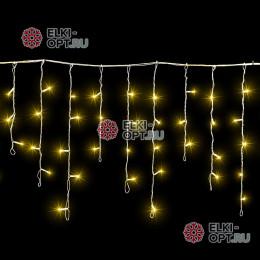 Светодиодная бахрома 3х0,5м цвет желтый, провод прозрачный, IP54, постоянное свечение