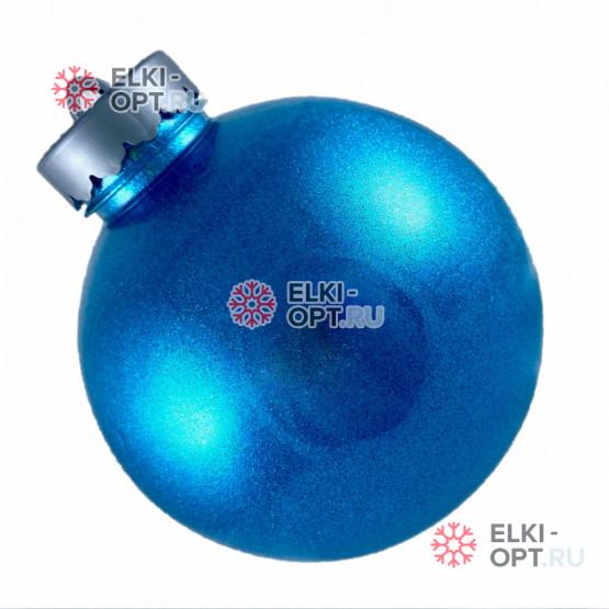 Шар пластиковый 15см цвет голубой блестящий