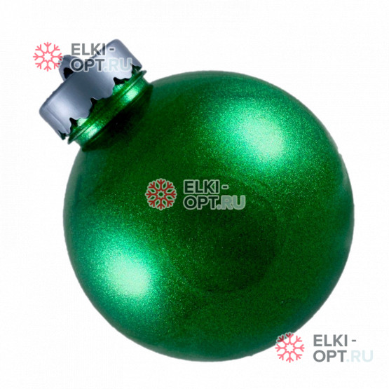 Шар пластиковый 15см цвет зеленый блестящий