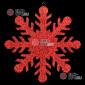 Снежинка Резная d-30 см цвет красный ( 50шт х 136р  )