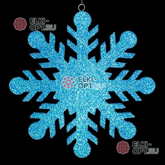 Снежинка Резная d-40см цвет бирюзовый (1шт/уп)