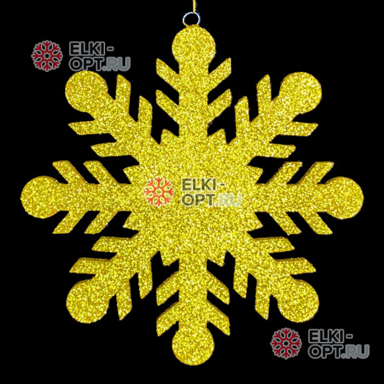 Снежинка Резная d-40см цвет золотой (1шт/уп)