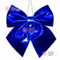 Бант блестящий 30см цвет синий для помещений