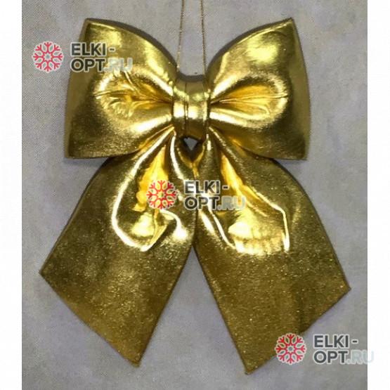 Бант 30см Блестящий цвет золото