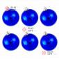 Шары пластиковые 8см цвет синий глянец (6шт/уп)