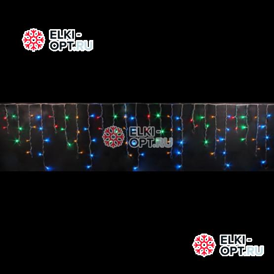 Светодиодная бахрома цвет мульти 3х0,5м прозрачный провод IP54 постоянное свечение