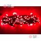 Светодиодная гирлянда цвет красный 10м постоянного свечения провод черный, IP65
