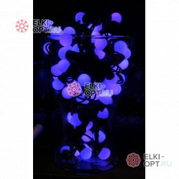 Светодиодная гирлянда Мультишарики  10м d-1,8см цвет синий постоянное свечение IP65