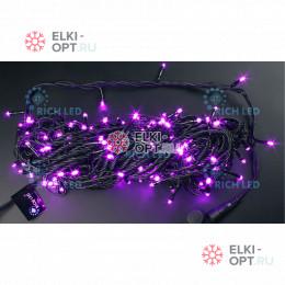 Светодиодная гирлянда Нить 20 М, 220В, постоянного свечения (розовый)