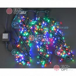 Светодиодная гирлянда Rich LED 3 нити по 20 м с контр., мульти