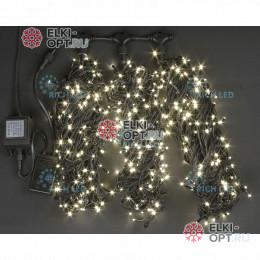 Светодиодная гирлянда Rich LED 3 нити по 20 м с контр., теплый белый