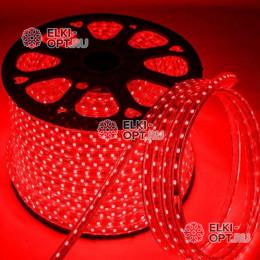 Светодиодная лента цвет красный 100м постоянное свечение (5050) 220V