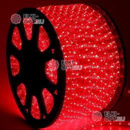 Дюралайт цвет красный d-13мм 100м, постоянное свечение (фиксинг), 220V