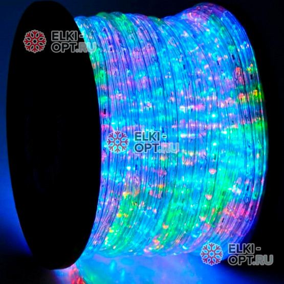 Дюралайт цвет мульти d-13мм 100м, постоянное свечение (фиксинг), 220V