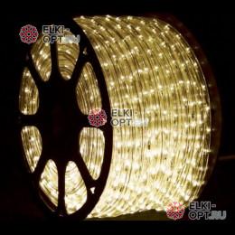 Дюралайт цвет теплый белый d-13мм 100м трехжильный (чейзинг), 220V