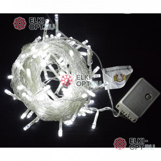 Светодиодная гирлянда цвет белый 10м с контроллером 100LED IP22
