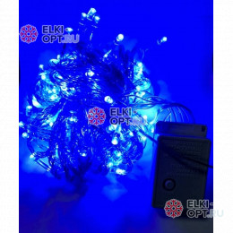 Светодиодная гирлянда цвет синий 10м с контроллером 100LED IP22