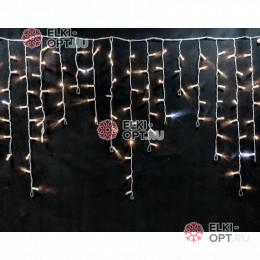 Светодиодная бахрома с мерцанием 3х0,9м цвет теплый белый , герметичный колпачок, IP65, провод прозрачный