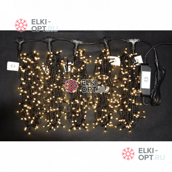 Гирлянда Клип Лайт 5 лучей по 20 метров цвет теплый белый (5 шт х 8 000руб) IP54