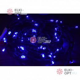Светодиодная гирлянда 24В цвет синий длина 10м IP54