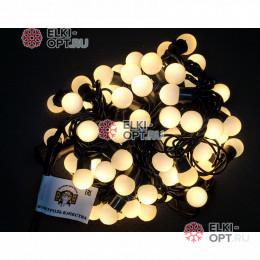 Светодиодная гирлянда мультишарики d-1,8 см 10м цвет теплый белый 10шт х1360 руб IP65  постоянное свечение