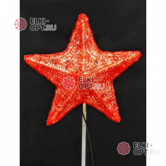 Макушка для ёлки Звезда 80 см цвет красный