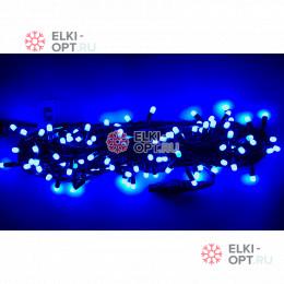 Светодиодная гирлянда 10м с колпачком 100 LED цвет синий IP65 10шт х1275руб постоянное свечение