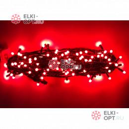 Светодиодная гирлянда 10м с колпачком 100 LED цвет красный IP65 10шт х1275руб постоянное свечение