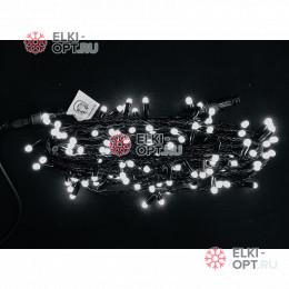 Светодиодная гирлянда 10м с колпачком 100 LED цвет белый IP65 10 шт х1275руб постоянное свечение