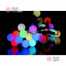 Светодиодная гирлянда мультишарики d-1,8 см 5м цвет RGB 10шт х935 руб FLASH-режим быстрый.
