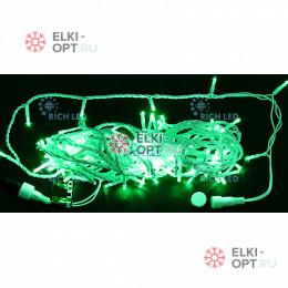 Светодиодная гирлянда Нить 10 М зеленый 24В (белый провод)