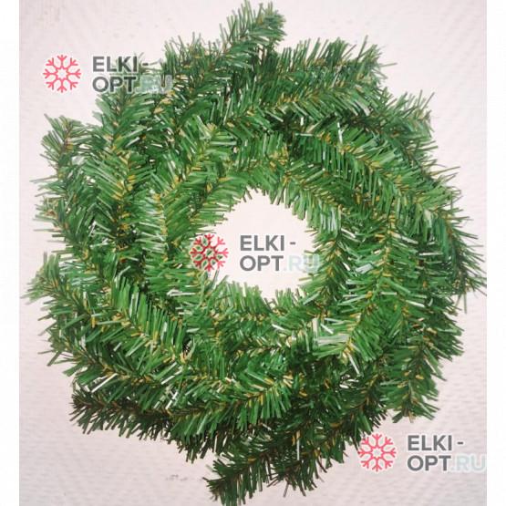 Венок новогодний d-35см цвет зеленый 10шт х 255руб