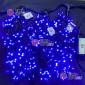 Гирлянда Клип Лайт 24V 3 нити по 20м цвет синий, провод черный постоянное свечение IP65 с герметичным колпачком
