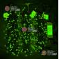 Светодиодная гирлянда Клип Лайт 3 нити по 20м цвет зеленый постоянное свечение провод черный IP54 24V