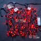 Гирлянда Клип Лайт 24V 3 нити по 20м цвет красный, провод черный постоянное свечение IP65 с герметичным колпачком