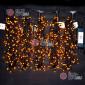 Светодиодная гирлянда Клип Лайт 5 нитей по 20м цвет желтый постоянное свечение провод черный IP54 24V