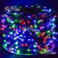 Светодиодная гирлянда Клип Лайт 12V цвет мульти 100м шаг 15см 666 LED провод зеленый IP65