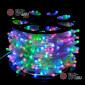 Светодиодная гирлянда Клип Лайт 12V цвет мульти 100м шаг 15см 666 LED провод прозрачный