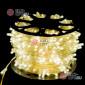 Светодиодная гирлянда Клип Лайт 12V цвет теплый белый 100м шаг 15см 666 LED провод прозрачный IP65