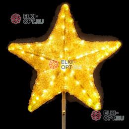 Макушка для ёлки Звезда 50 см цвет теплый белый