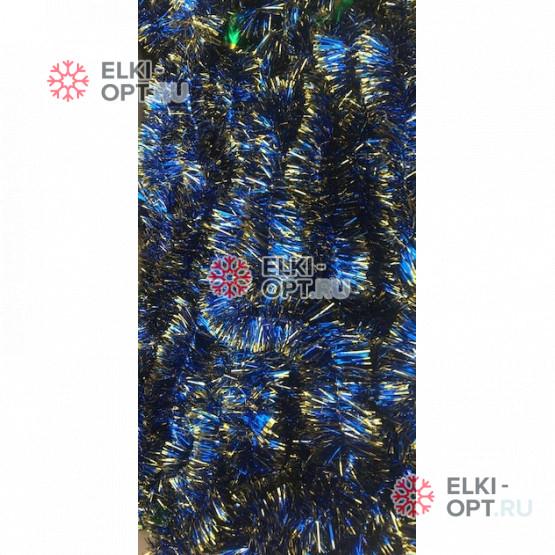Мишура Московская d-5см цвет синий + золото длина 2м (100шт х 38руб)
