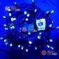 Светодиодная гирлянда цвет синий 24V IP65 (20шт х 1700р) 10м герметичный колпачок, провод каучук , постоянное свечение