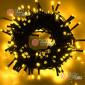 Светодиодная гирлянда цвет желтый 10м IP44, провод черный, 220V (20шт*810р)