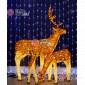 Световая Акриловая Фигура 3D Олень папа цвет коричневый 170см