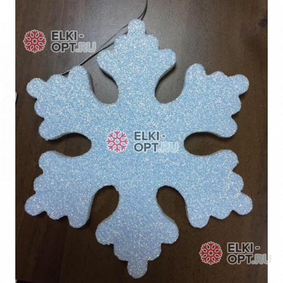 Снежинка ИСКРА d-10 см цвет белый (10шт уп.)