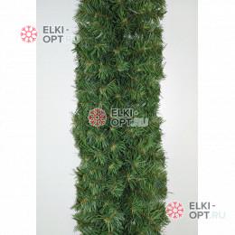 Хвойная гирлянда d-28см цвет зеленый длина 2,7м 8шт х 1105руб (300 веток)