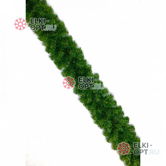 Еловая гирлянда d-25 см цвет зеленый   длина 2,7м