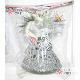 Колокольчик 11см цвет серебро (1шт)  50шт х50р