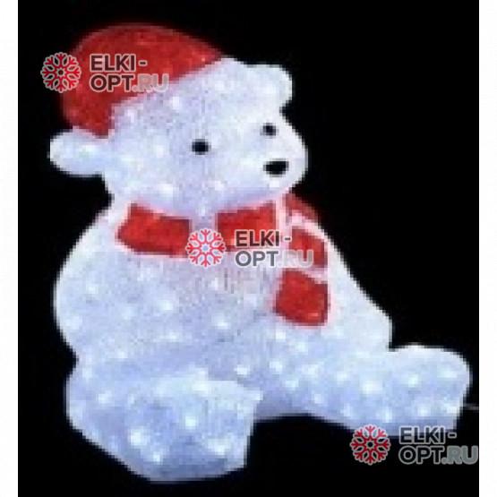 Световая Акриловая Фигура Мишка 56см цвет белый